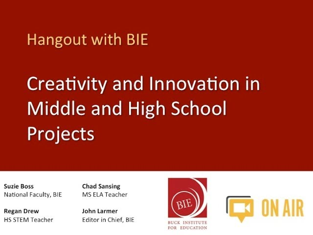 Innovation Video with Creativity in Middle and High School Projects